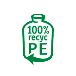 bottle made of 100% recyclate